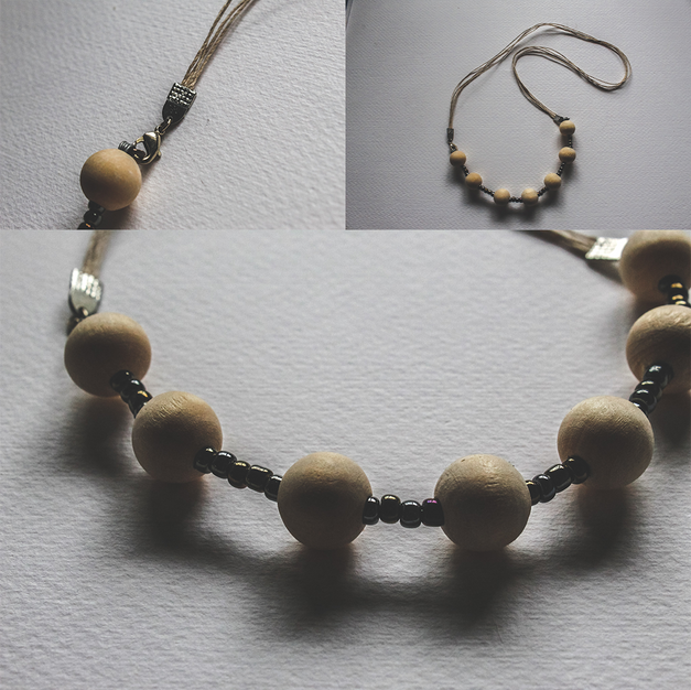 Wooden Bead Wire necklace - WN03