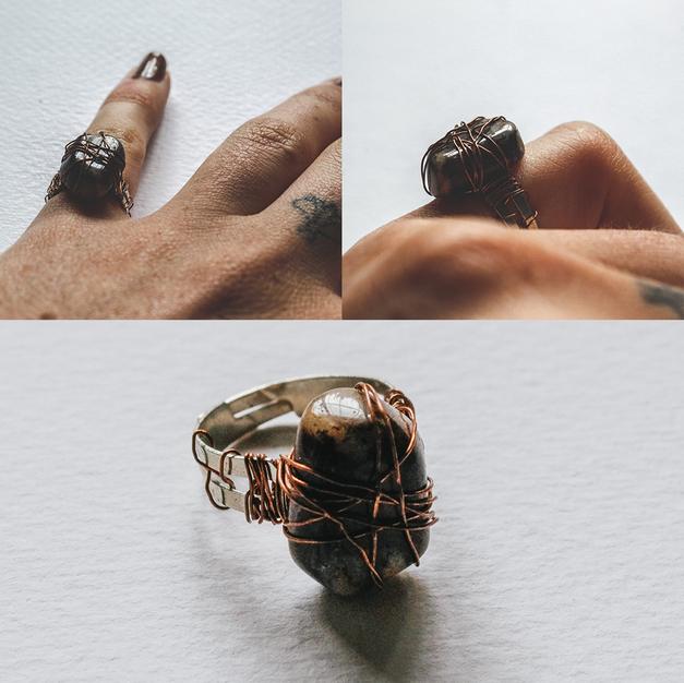 Stone & Copper Ring - SR01