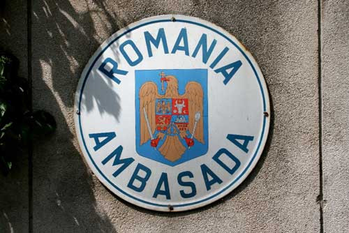 Romanian Embassy Plaque