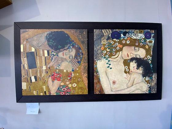 Quadro con bacio Klimt