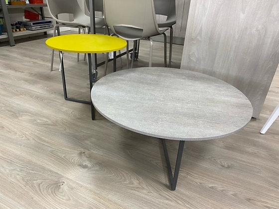 Tavolino tondo Giallo