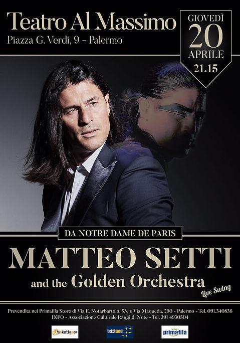 Teatro al Massmo, con Matteo Setti. Ignazio Di Fresco, insegnante funky fusion d batteria nell'Accademia Musica Moderna di Palermo
