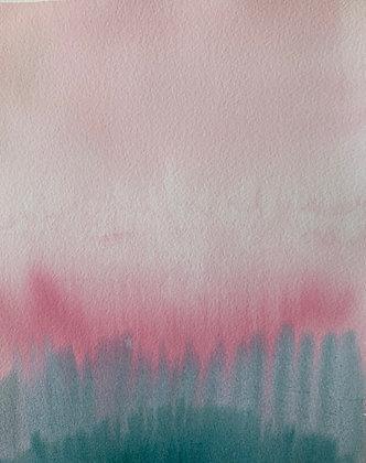 Turquesa sobre rosa