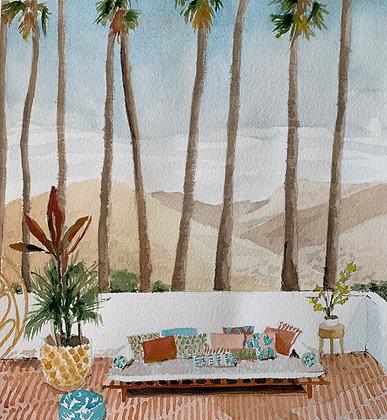 Bajo las palmeras