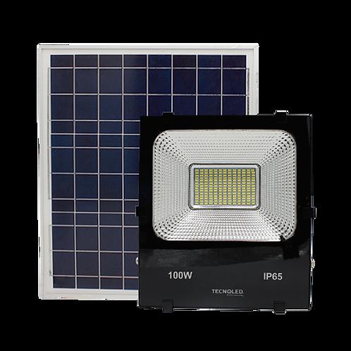 Proyector 100W con Panel Solar