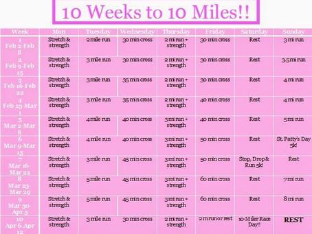 COUNTDOWN TO SUNSHINE SEASON—10 WEEKS TO 10 MILES