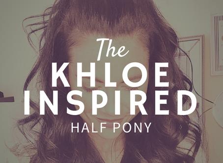 HOW TO: KHLOE-INSPIRED HALF PONY