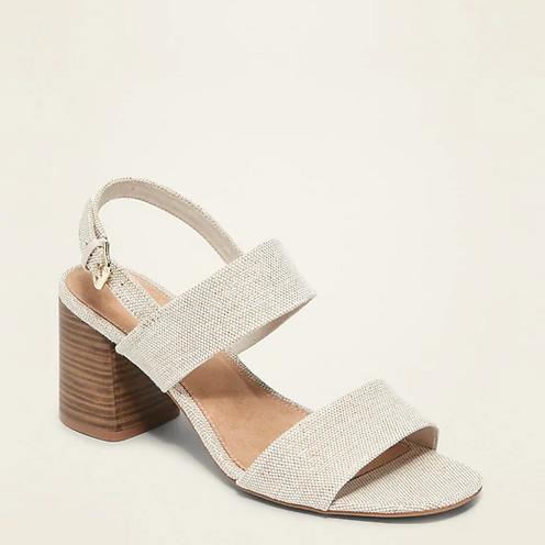 Sling-back Block Heel