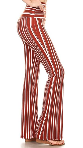 Striped 70s Flares