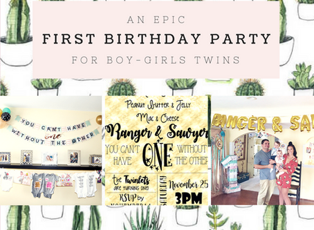 An Epic Boy-Girl Twin First Birthday Party