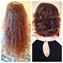 Goodbye perm of yesteryears—h e l l o fresh trendy bob 💕 _ #beforeandafter #hairmakeover #hairtrans