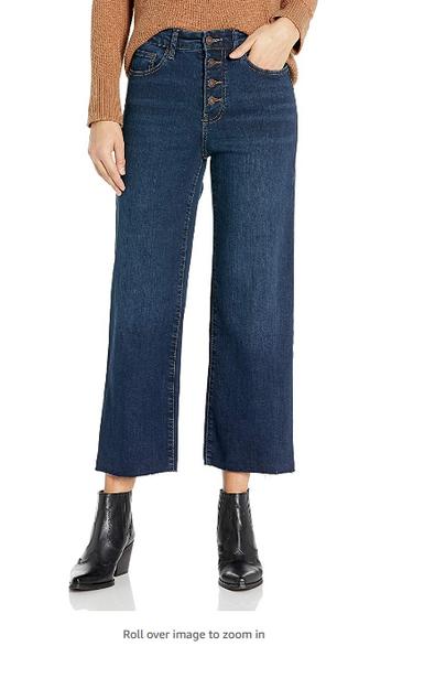 Cropped Wide Leg Jean