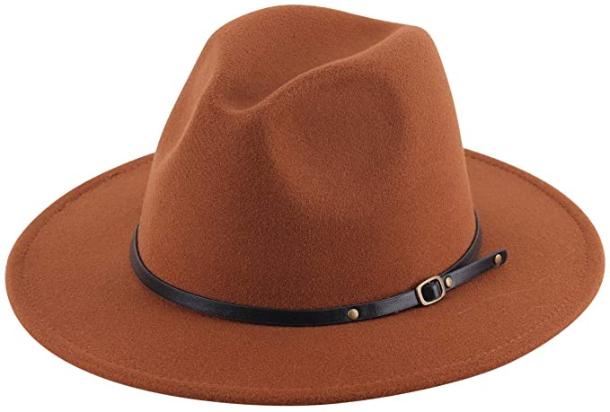 Cognac Wide Brim Hat
