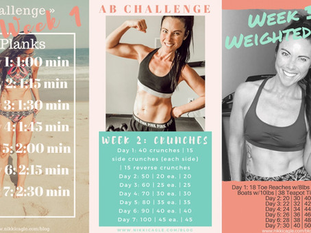 3-Week Ab Challenge: Planks, Crunches & Weighted Abs