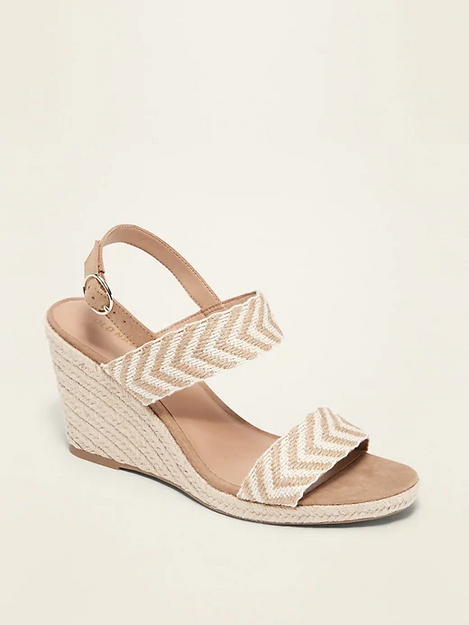 Double-Strap Espadrille Wedge