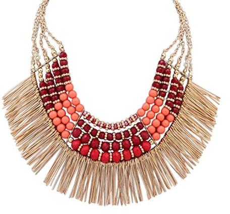 Boho Fringe Collar Necklace