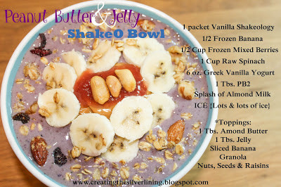 PEANUT BUTTER JELLY {SHAKEOLOGY} TIME
