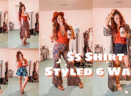 6 Ways to Style This $5 Walmart Shirt