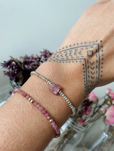 Pink Tourmaline Bracelet (Mental Health Awareness)