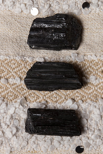 Raw Black Tourmaline Pieces (LARGE)