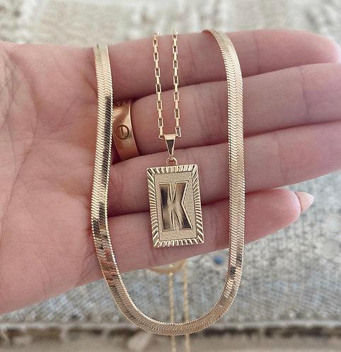 18K Custom Letter Necklace