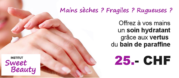 soin beaute mains paraffine hydrate sech