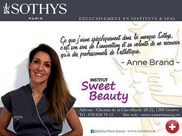 Sweet Beauty Sothys Genève Institt de Beauté soin cors