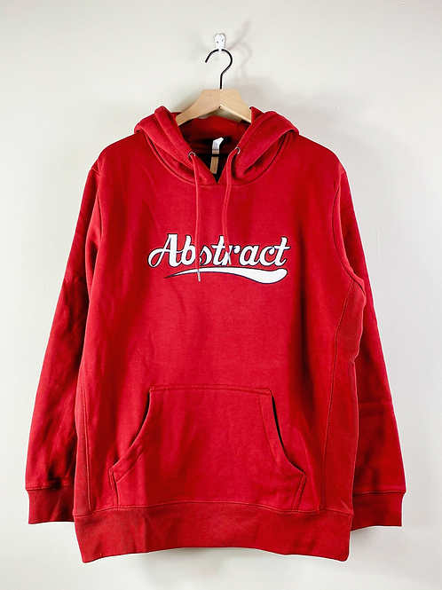 Red Abstract Appliqué Hoodie