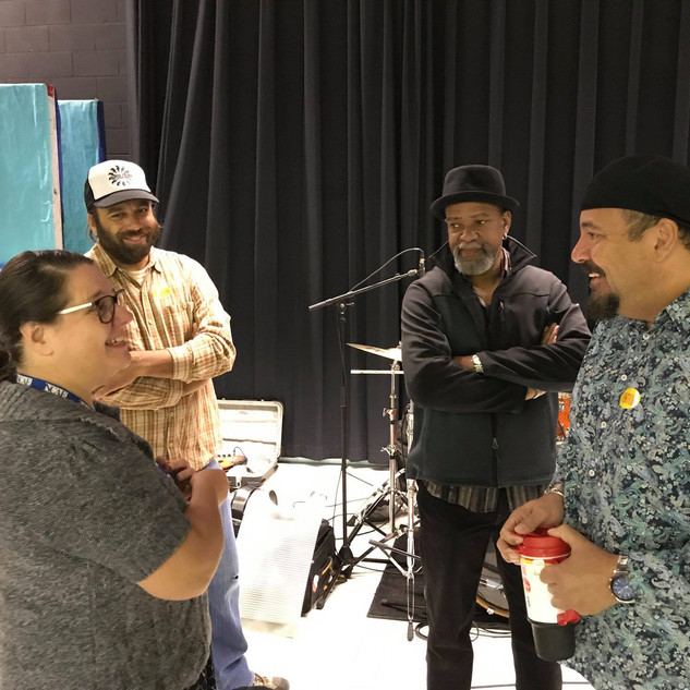 Mike D with Grammy Award Winning Musican Terrance Simien and friends