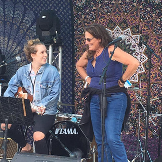 Playing on stage with Ruth Wyand
