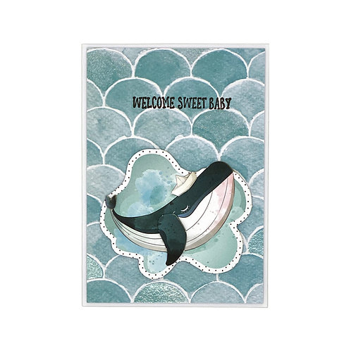 Baby-Karte Wal