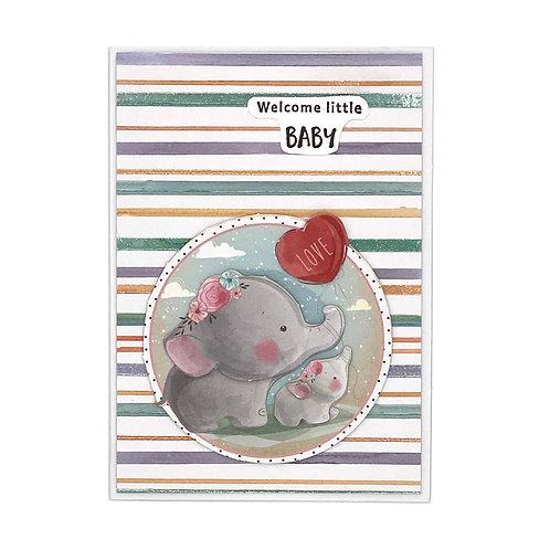 Baby-Karte Elefant