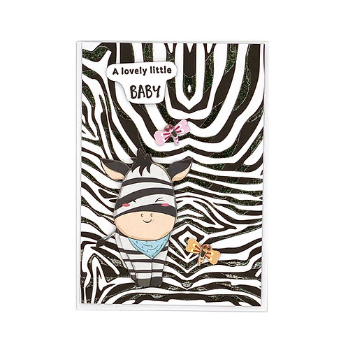 Baby-Karte Zebra