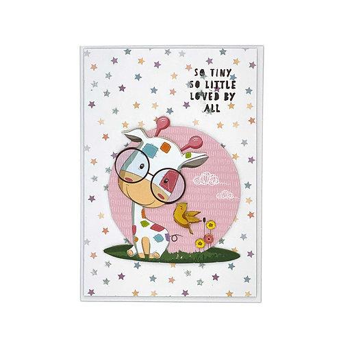 Baby-Karte Giraffe