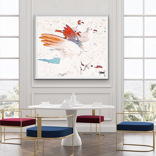 GULLS GATHERING - Canvas Wrapped & Float Framed (3 sizes)