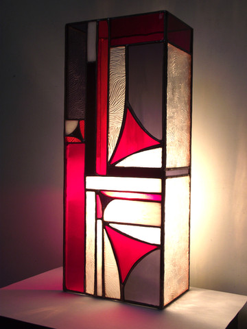 Art déco - Triangles rouges