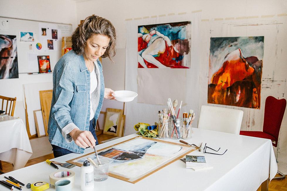 Atelier Nada Stauber artiste visuel Laus