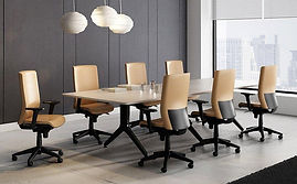 Mesa de reuniones con electrificación