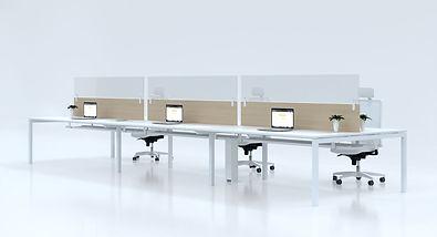 mampara proteccion añadir separador lateral mesa oficina