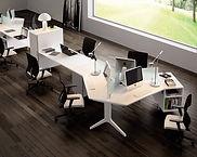Mesas de oficina pata metálica