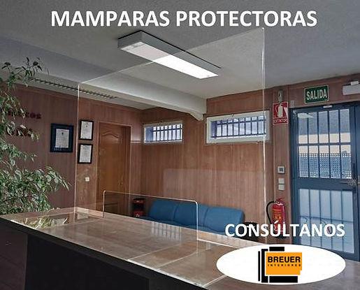 MAMPARA PROTECTORA METACRILATO MOSTRADOR