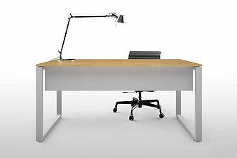 Mesas de oficina con pata cuadrada tapa madera