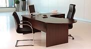 Mesa de oficina con tapa con forma