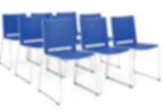 Sillas para aulas de formación apilables FILO de Somomar