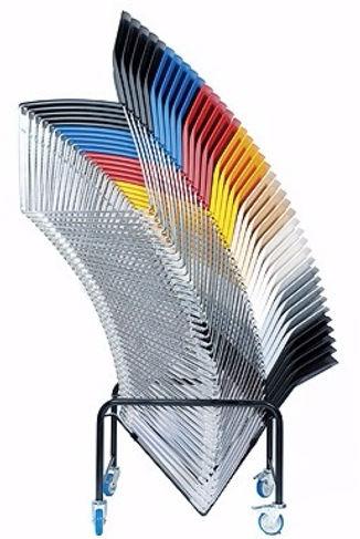 Sillas apilables de plastico Manhattan de Dileoffice
