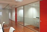 Divisores para oficina en cristal