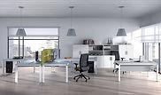 Mesas oficina con separadores en Madrid