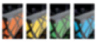 MOSTRADOR RECEPCION RECTO ZIG ZAG DE MDD CON ILUMINACION LED  COLOR RGBW