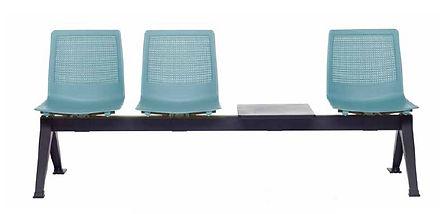 Bancada sillas de espera en plastico de Dileoffice
