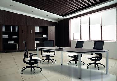 Mesa de reuniones rectangular Teseo